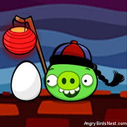 Angry Birds Seasons Avatar Lantern Pig with Egg