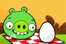 Angry Birds Seasons Avatar Pig at Picnic with Egg
