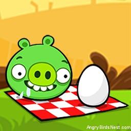 Angry Birds Seasons Avatar Pig at Picnic with Egg