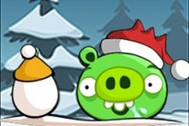 Angry Birds Seasons Avatar Snow Pig with Egg