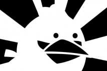 Angry Birds Brushed Black and White Blue Bird