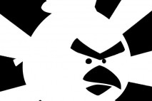 Angry Birds Brushed Black and White Red Bird