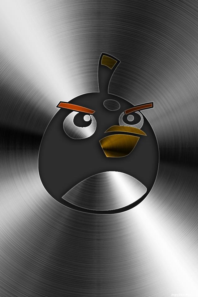 Angry Birds Brushed Metal Mobile Bomb Bird