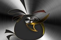 Angry Birds Brushed Metal Mobile Orange Bird