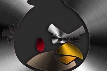 Angry Birds Brushed Metal Mobile Red Bird