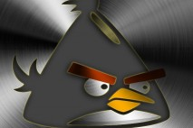Angry Birds Brushed Metal Mobile Yellow Bird