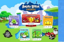 Angry Birds Friends on Facebook Episode Selection Screen