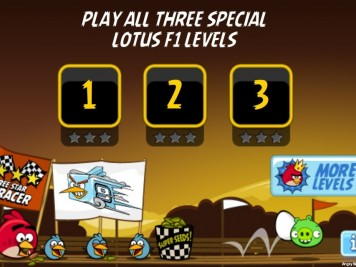 Angry Birds Lotus F1 Team Level Selection Screen