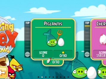 Angry Birds Seasons Piglantis Episode Selection Screen