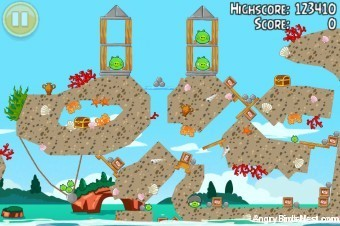 Angry Birds Seasons Piglantis Golden Egg #34 Walkthrough