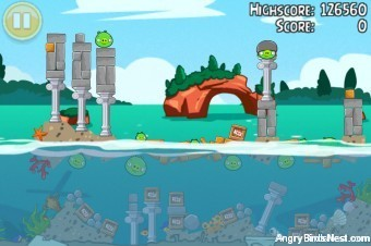 Angry Birds Seasons Piglantis Golden Egg #35 Walkthrough