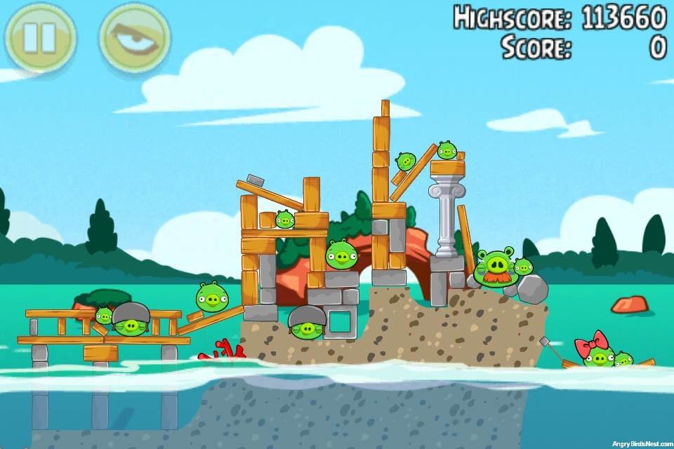 Angry Birds Seasons Piglantis Level 1-8 Walkthrough | AngryBirdsNest