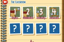 Amazing Alex Episode 1 The Classroom Level Selection Screen