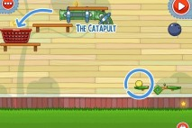 Amazing Alex The Backyard Level 2-17 The Catapult Walkthrough