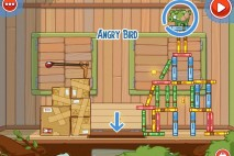 Amazing Alex Level 4-1 The Treehouse Angry Bird Walkthrough