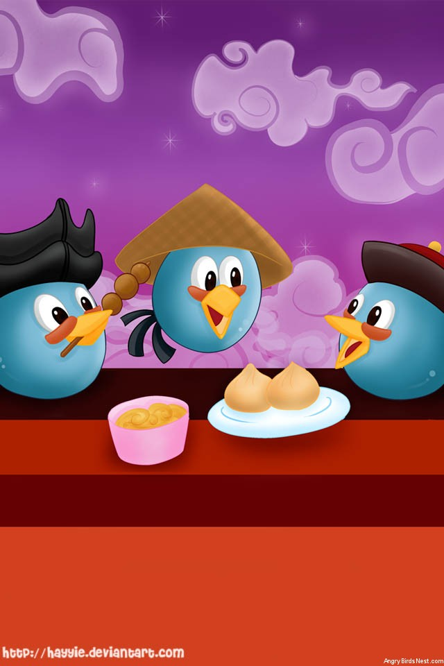Angry Birds Chinese Themed iPhone Background by Hayyie