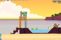 Angry Birds Facebook Pigini Beach Level 1 Walkthrough