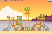 Angry Birds Facebook Pigini Beach Level 11 Walkthrough
