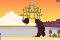 Angry Birds Facebook Pigini Beach Level 13 Walkthrough