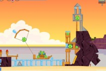 Angry Birds Facebook Pigini Beach Level 14 Walkthrough