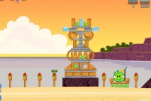 Angry Birds Facebook Pigini Beach Level 15 Walkthrough