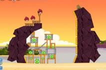 Angry Birds Facebook Pigini Beach Level 3 Walkthrough