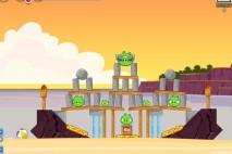Angry Birds Facebook Pigini Beach Level 4 Walkthrough