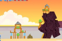 Angry Birds Facebook Pigini Beach Level 5 Walkthrough