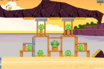 Angry Birds Facebook Pigini Beach Level 6 Walkthrough