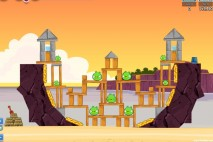 Angry Birds Facebook Pigini Beach Level 7 Walkthrough