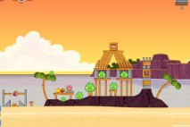 Angry Birds Facebook Pigini Beach Level 8 Walkthrough