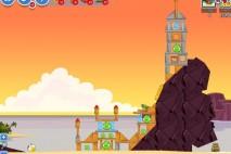Angry Birds Facebook Pigini Beach Level 9 Walkthrough