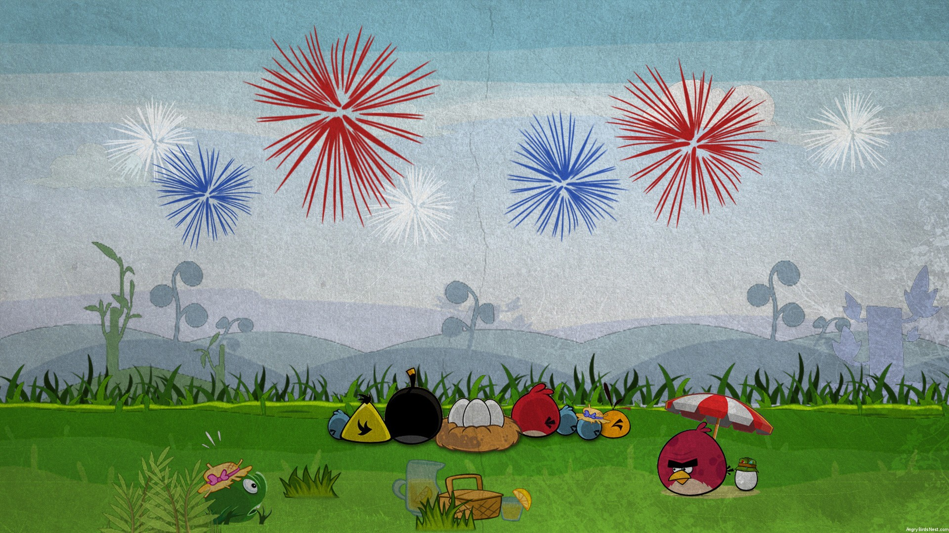Angry Birds Fourth of July Wallpaper Desktop 1920x1080