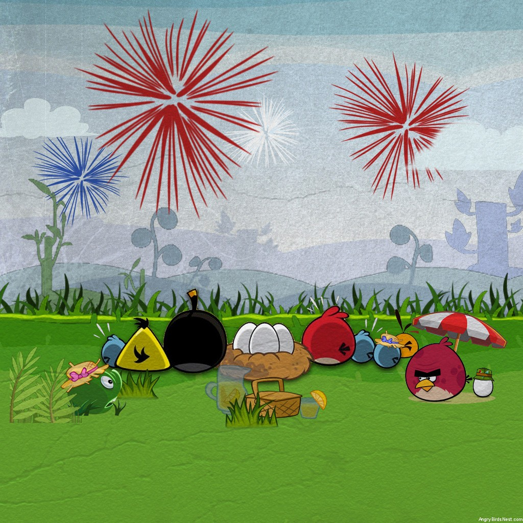 Angry Birds Fourth of July Wallpaper Desktop iPad