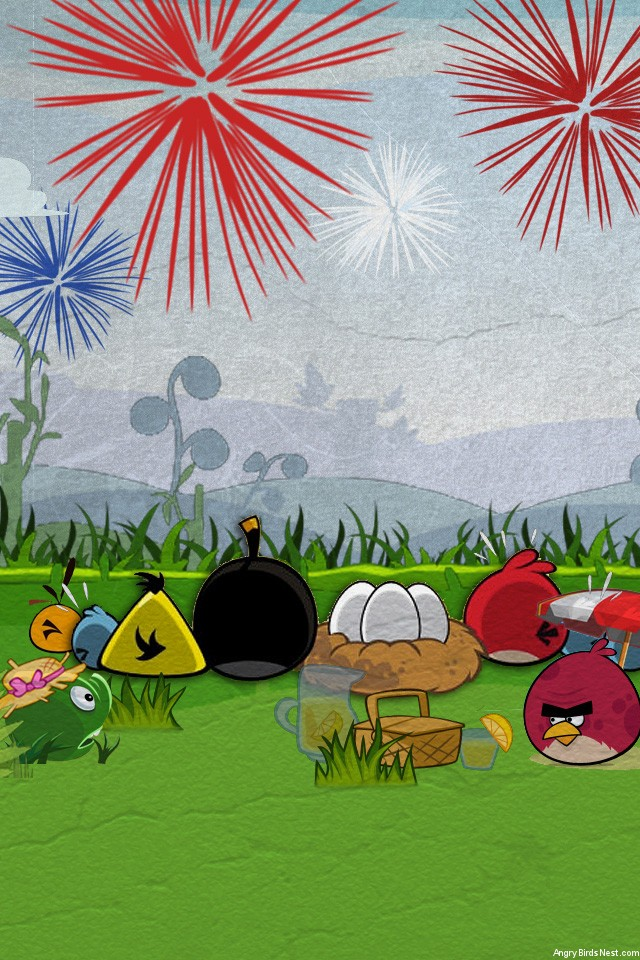 Angry Birds Fourth of July Wallpaper iPhone
