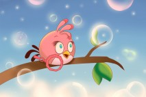 Angry Birds Pink Bird iPad Background by Hayyie