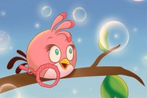 Angry Birds Pink Bird iPhone Background by Hayyie