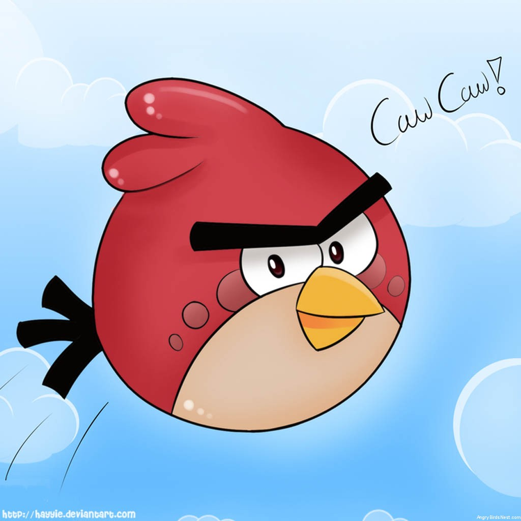 Angry Birds Red Bird iPad Background by Hayyie