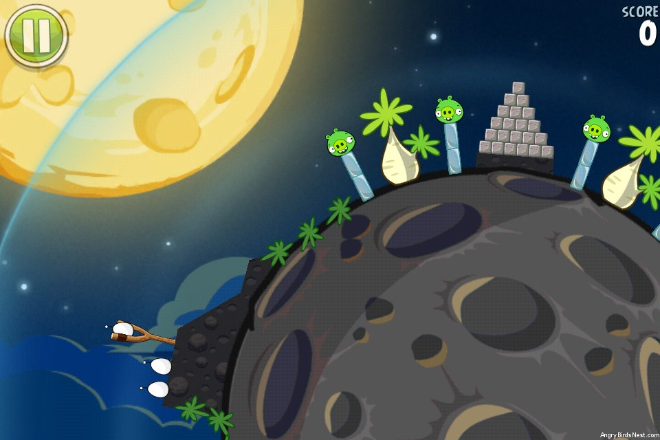 Angry Birds Space Pig Bang Space Egg Level S-1