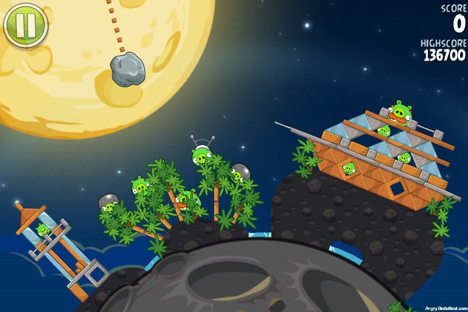 Angry birds space pig bang bonus level s 2 walkthrough - Angry birds space gratuit ...
