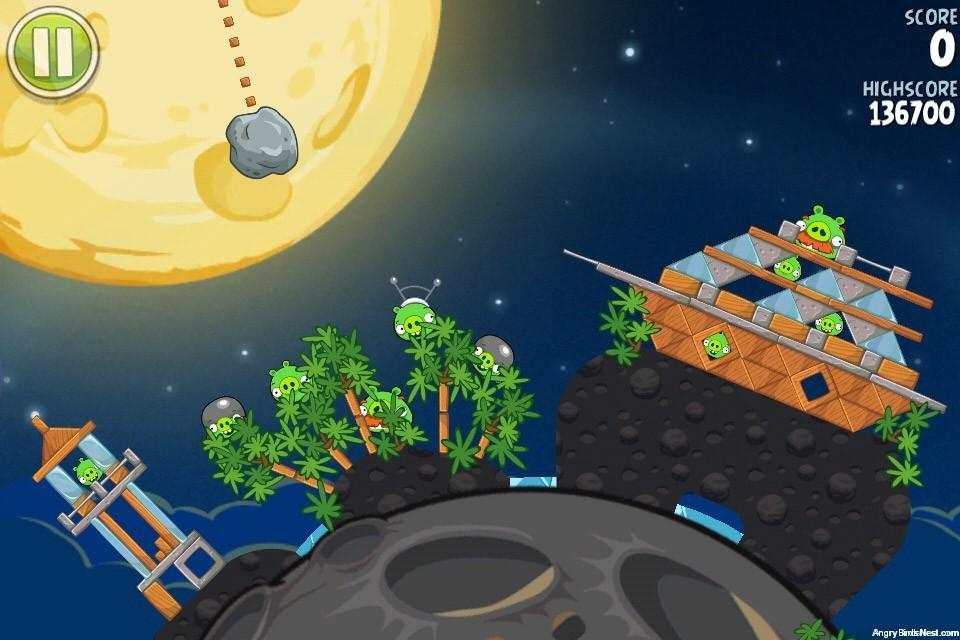 Angry Birds Space Pig Bang Bonus Level S 2 Walkthrough
