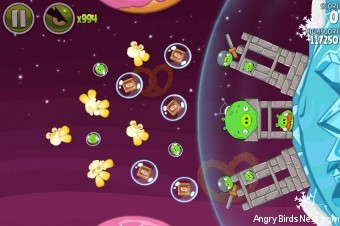Angry Birds Space Utopia Level 4-25 Walkthrough