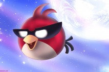Angry Birds Super Red Bird Desktop Background by Hayyie