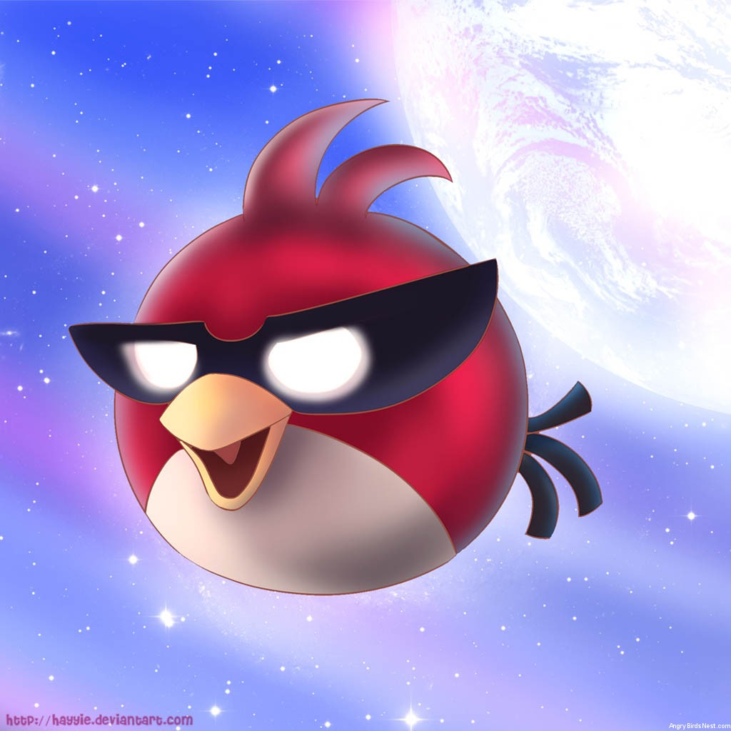 Angry Birds Super Red Bird iPad Background by Hayyie