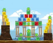 Angry Birds Chrome Logo Location Level 9-8