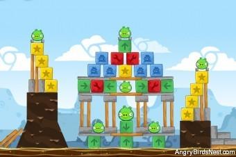 Angry Birds Chrome Dimension Level #15 Walkthrough