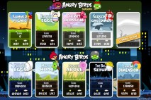 Angry Birds Chrome Episode Selection Screen with the Big Setup