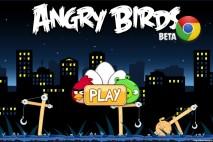 Angry Birds Chrome Main Home Screen with the Big Setup Theme