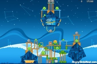 Angry Birds Intel Ultrabook Adventure Level 8 Walkthrough