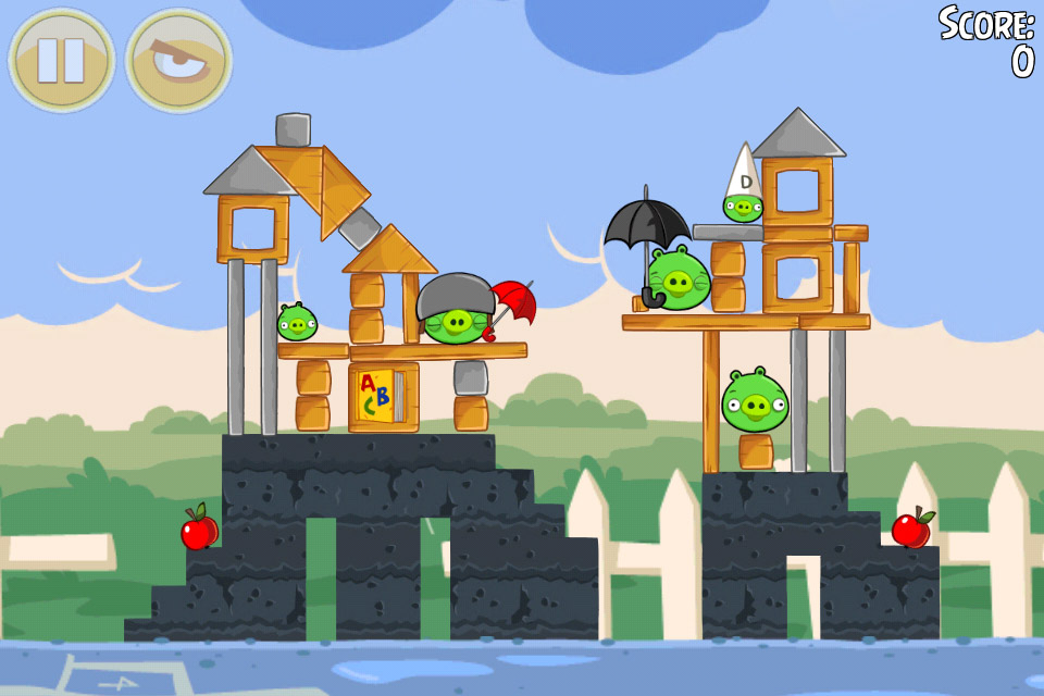 Angry Birds Seasons Back to School Level 1-1